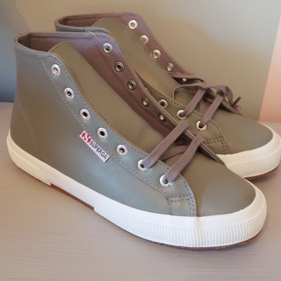 47755e15ec3b Superga Fantasy Grey High Top Sneakers 7.5 Womens